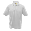 White - Front - UCC 50-50 Mens Heavyweight Plain Pique Short Sleeve Polo Shirt