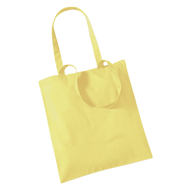 Yellow - Front - Westford Mill Promo Bag For Life - 10 Litres