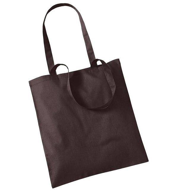 Chocolate - Front - Westford Mill Promo Bag For Life - 10 Litres