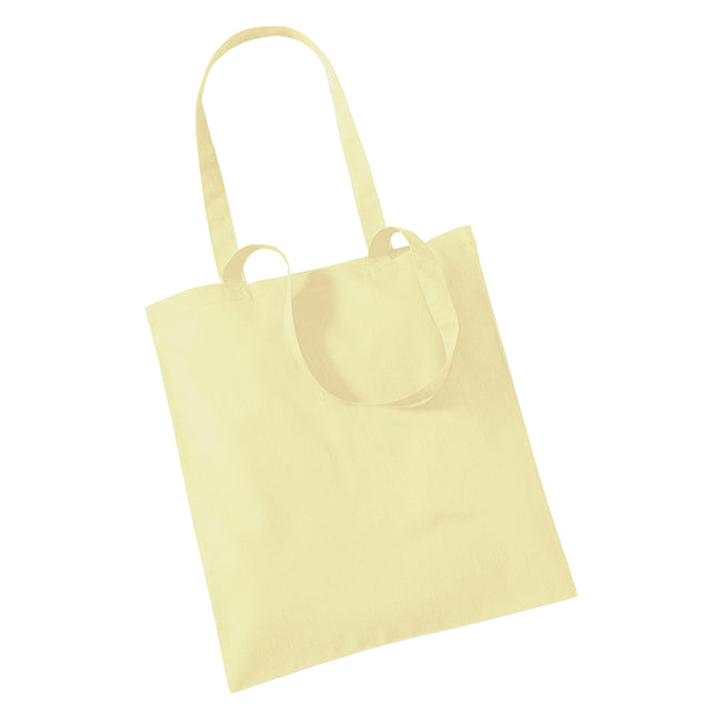 Pastel Lemon - Front - Westford Mill Promo Bag For Life - 10 Litres