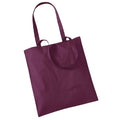 Burgundy - Front - Westford Mill Promo Bag For Life - 10 Litres