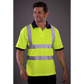 Hi-Vis Yellow - Pack Shot - Yoko Hi-Vis Short Sleeve Polo Shirt - Mens Workwear