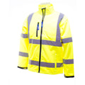 Hi-Vis Yellow - Side - Yoko Mens Hi-Vis Sofshell Jacket