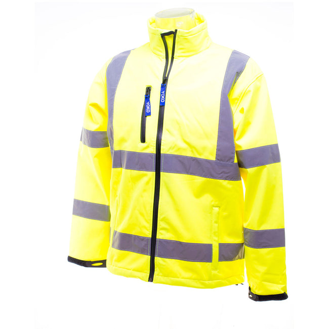 Hi-Vis Yellow - Lifestyle - Yoko Mens Hi-Vis Sofshell Jacket