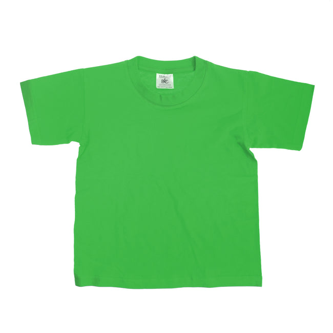 Kelly Green - Front - B&C Kids-Childrens Exact 150 Short Sleeved T-Shirt