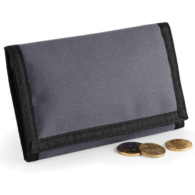 Graphite - Pack Shot - Bagbase Ripper Wallet