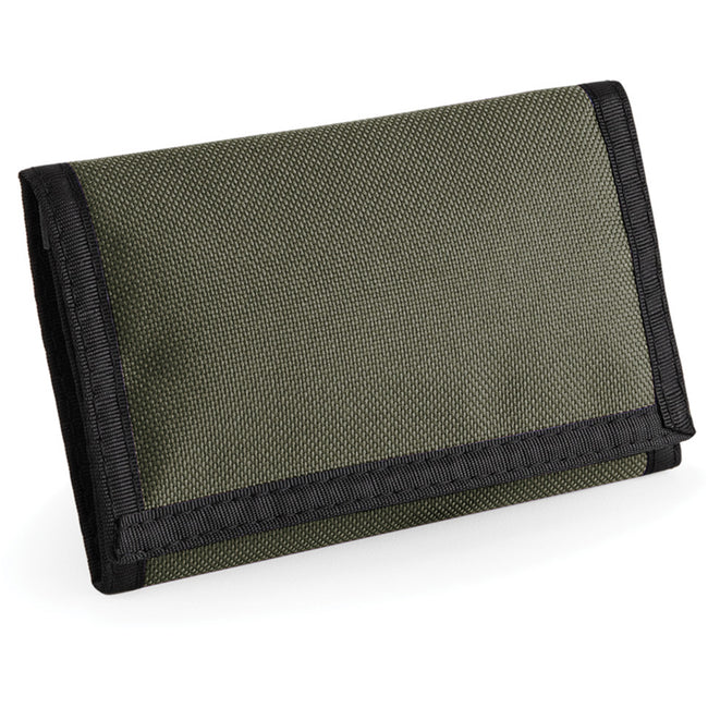 Olive Green - Back - Bagbase Ripper Wallet