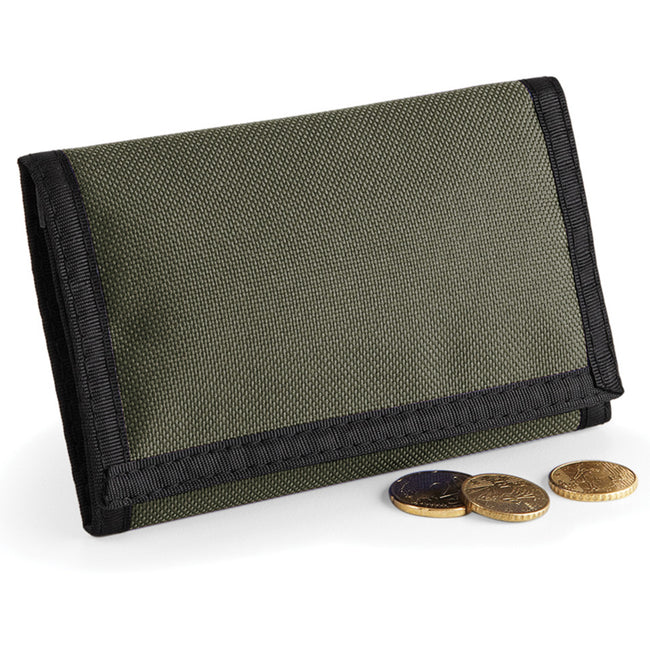 Olive Green - Pack Shot - Bagbase Ripper Wallet