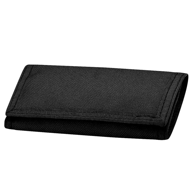 Black - Front - Bagbase Ripper Wallet