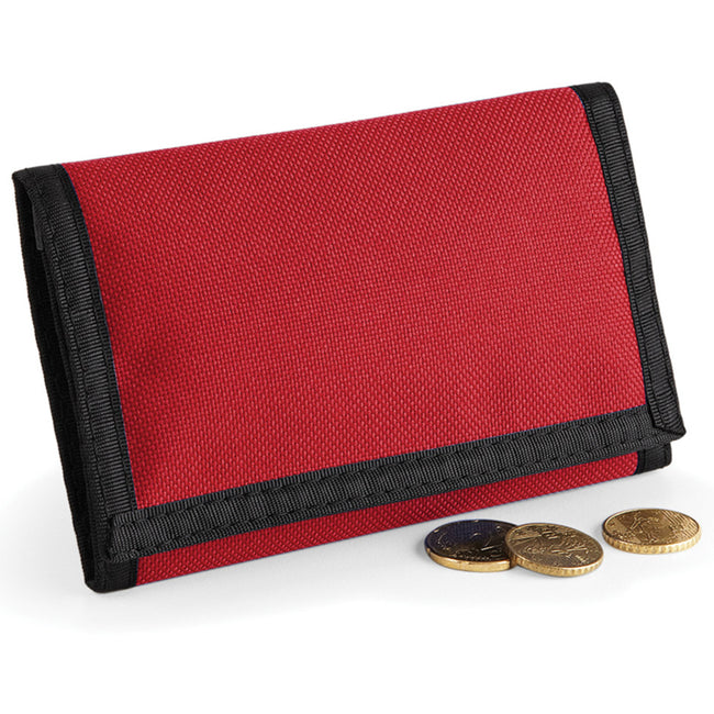 Classic Red - Pack Shot - Bagbase Ripper Wallet