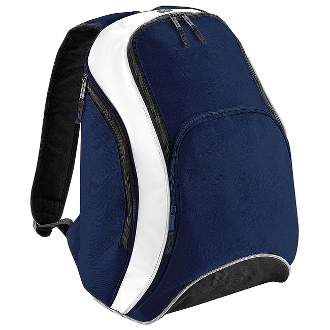 French Navy-White - Front - Bagbase Teamwear Backpack - Rucksack (21 Litres)