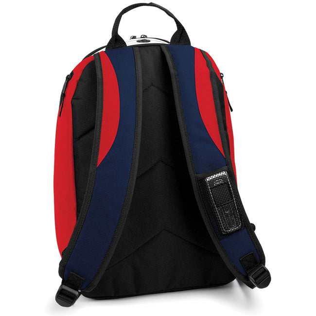 F Navy-Classic Red-White - Back - Bagbase Teamwear Backpack - Rucksack (21 Litres)