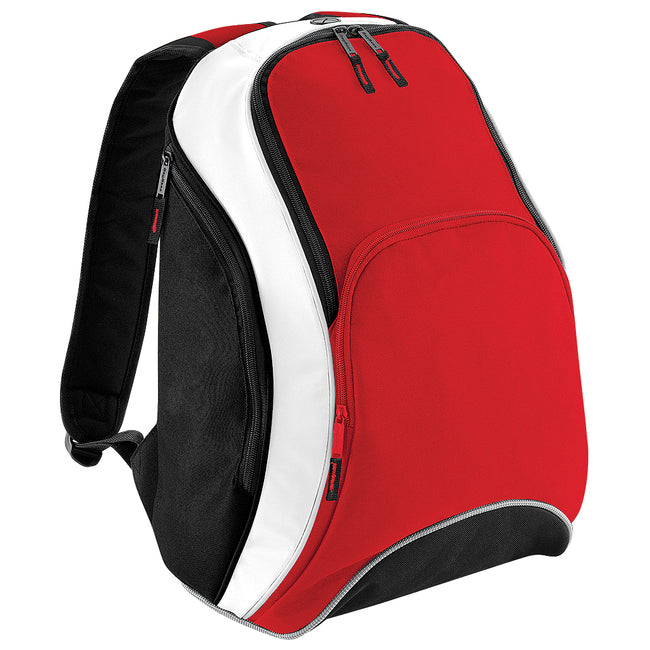 Classic Red-Black-White - Front - Bagbase Teamwear Backpack - Rucksack (21 Litres)