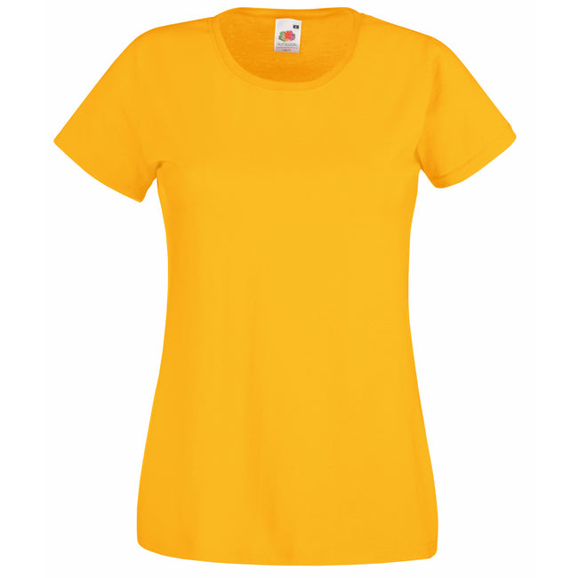 Sunflower - Front - Fruit Of The Loom Ladies-Womens Lady-Fit Valueweight Short Sleeve T-Shirt