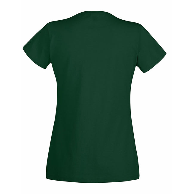 Bottle Green - Back - Fruit Of The Loom Ladies-Womens Lady-Fit Valueweight Short Sleeve T-Shirt