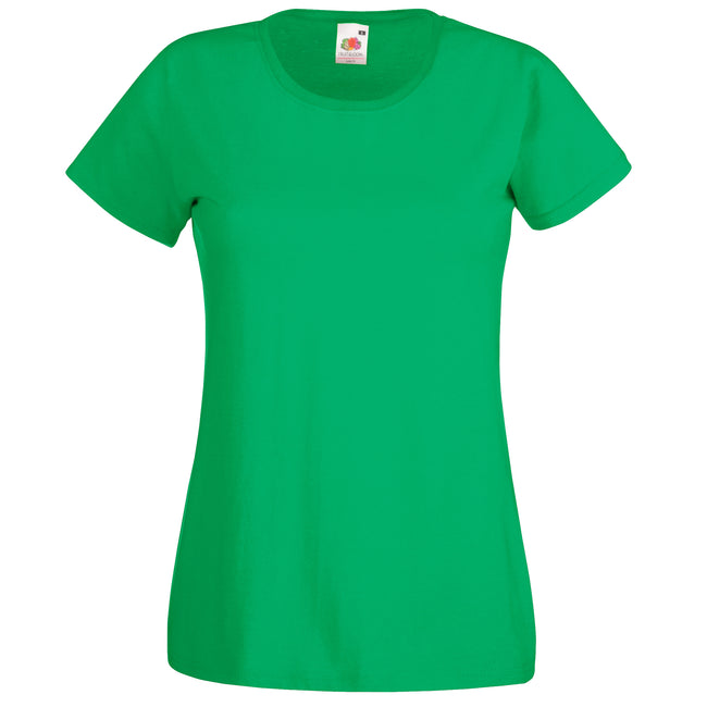 Kelly Green - Front - Fruit Of The Loom Ladies-Womens Lady-Fit Valueweight Short Sleeve T-Shirt