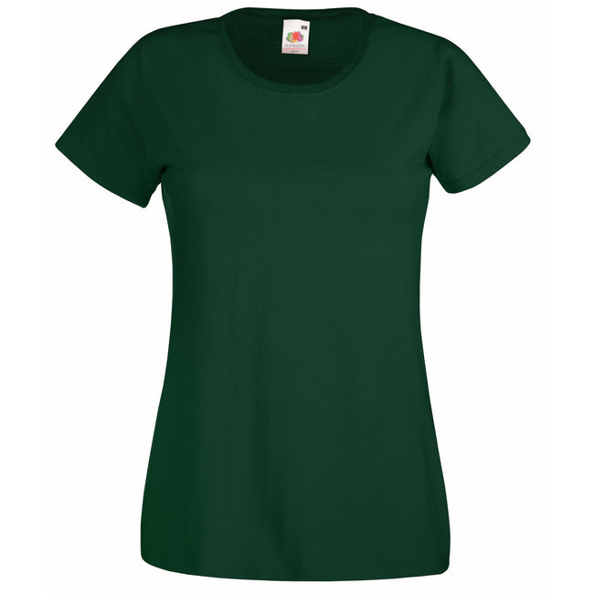 Bottle Green - Front - Fruit Of The Loom Ladies-Womens Lady-Fit Valueweight Short Sleeve T-Shirt