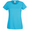 Azure Blue - Front - Fruit Of The Loom Ladies-Womens Lady-Fit Valueweight Short Sleeve T-Shirt