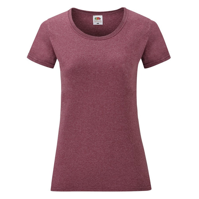 Heather Grey - Side - Fruit Of The Loom Ladies-Womens Lady-Fit Valueweight Short Sleeve T-Shirt