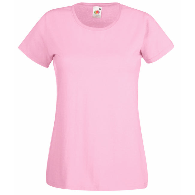 Light Pink - Front - Fruit Of The Loom Ladies-Womens Lady-Fit Valueweight Short Sleeve T-Shirt