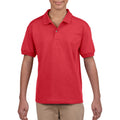 Red - Back - Gildan DryBlend Childrens Unisex Jersey Polo Shirt