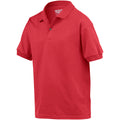 Red - Side - Gildan DryBlend Childrens Unisex Jersey Polo Shirt