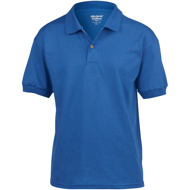 Royal - Front - Gildan DryBlend Childrens Unisex Jersey Polo Shirt