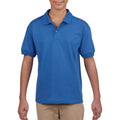 Royal - Back - Gildan DryBlend Childrens Unisex Jersey Polo Shirt