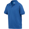 Royal - Side - Gildan DryBlend Childrens Unisex Jersey Polo Shirt