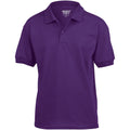 Purple - Front - Gildan DryBlend Childrens Unisex Jersey Polo Shirt