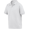 White - Side - Gildan DryBlend Childrens Unisex Jersey Polo Shirt