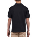 Black - Pack Shot - Gildan DryBlend Childrens Unisex Jersey Polo Shirt