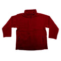 Burgundy - Front - Jerzees Schoolgear Childrens-Kids Unisex 1-4 Zip Outdoor Fleece Top