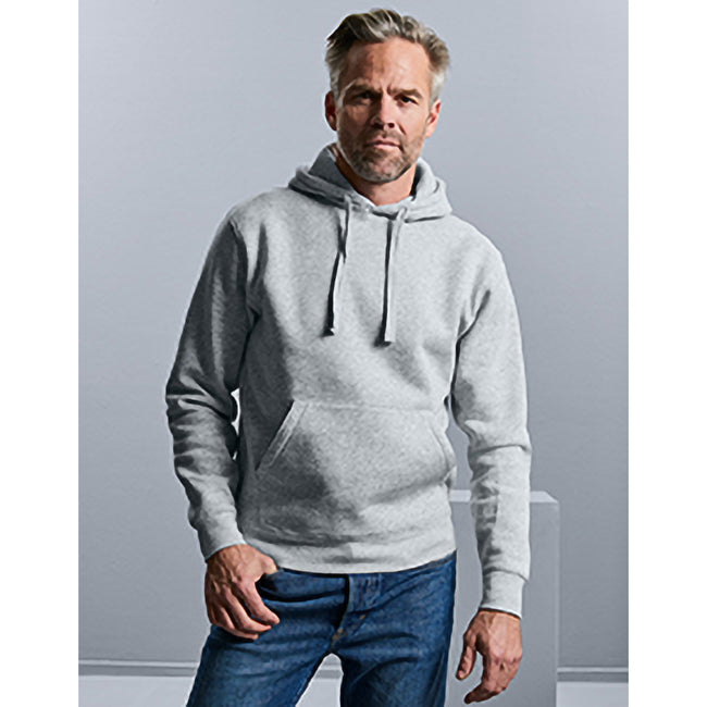 Light Oxford - Lifestyle - Russell Mens Authentic Hooded Sweatshirt - Hoodie