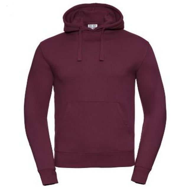 Burgundy - Front - Russell Mens Authentic Hooded Sweatshirt - Hoodie