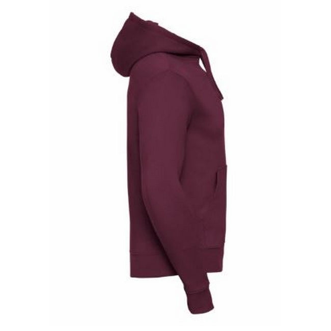 Burgundy - Back - Russell Mens Authentic Hooded Sweatshirt - Hoodie