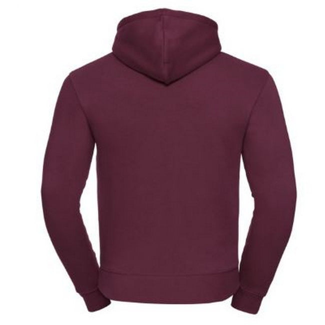 Burgundy - Side - Russell Mens Authentic Hooded Sweatshirt - Hoodie