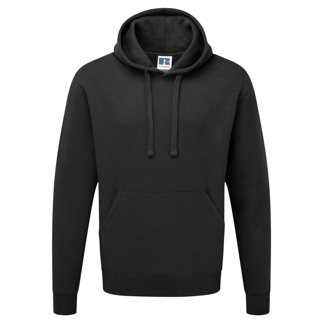 Black - Front - Russell Mens Authentic Hooded Sweatshirt - Hoodie