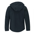 Navy Blue - Back - B&C Mens Hooded Softshell Breathable, Waterproof & Windproof Jacket (Fleece Lining)