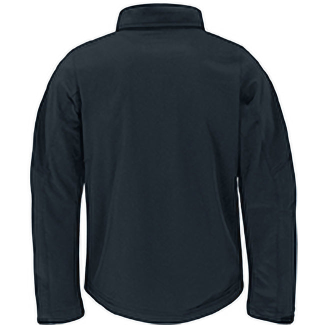 Navy Blue - Lifestyle - B&C Mens Hooded Softshell Breathable, Waterproof & Windproof Jacket (Fleece Lining)