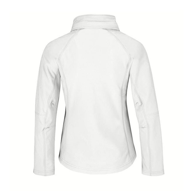Black - Front - B&C Womens Hooded Premium Softshell Jacket (Windproof, Waterproof & Breathable)