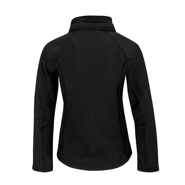 White - Front - B&C Womens Hooded Premium Softshell Jacket (Windproof, Waterproof & Breathable)