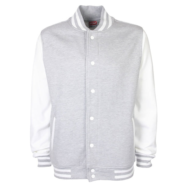 Navy-White - Back - FDM Unisex Varsity - University Jacket (Contrast Sleeves)