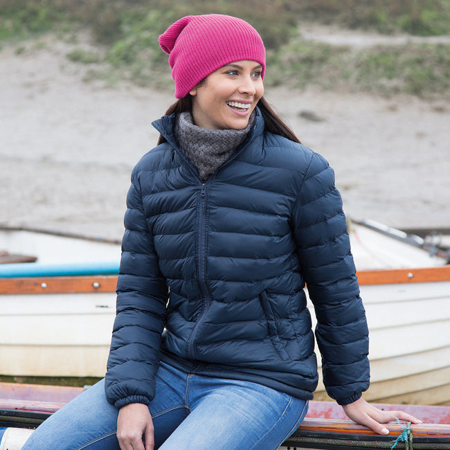 Navy Blue - Back - Result Ladies-Womens Ice Bird Padded Jacket (Water Repellent & Windproof)