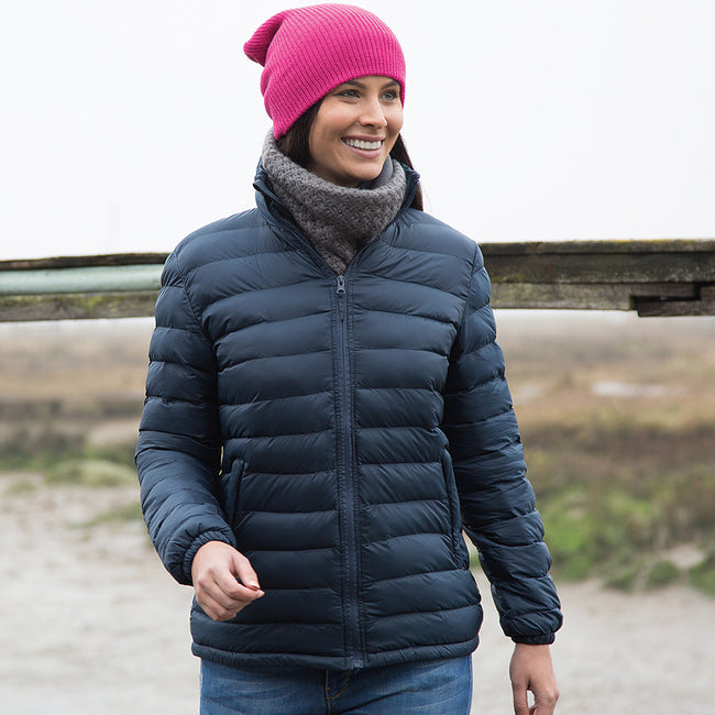Navy Blue - Side - Result Ladies-Womens Ice Bird Padded Jacket (Water Repellent & Windproof)