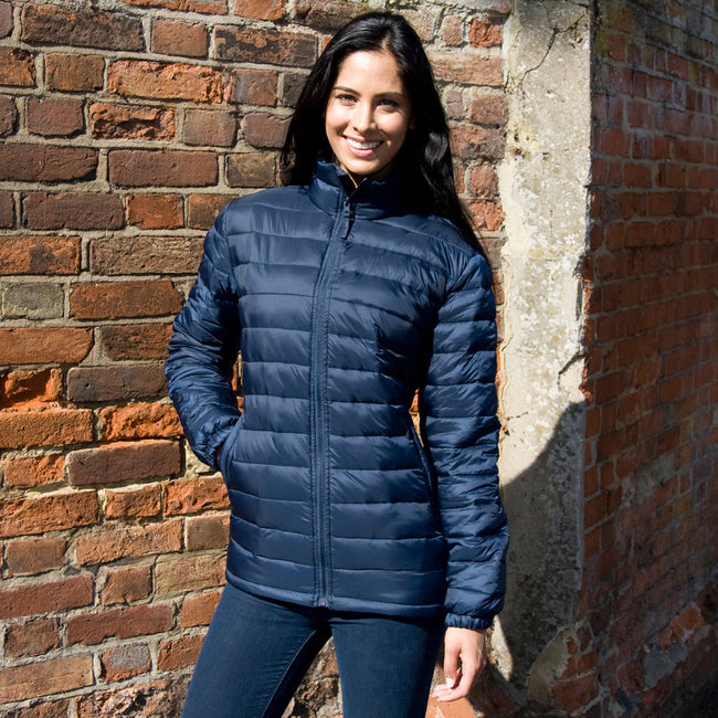 Navy Blue - Lifestyle - Result Ladies-Womens Ice Bird Padded Jacket (Water Repellent & Windproof)