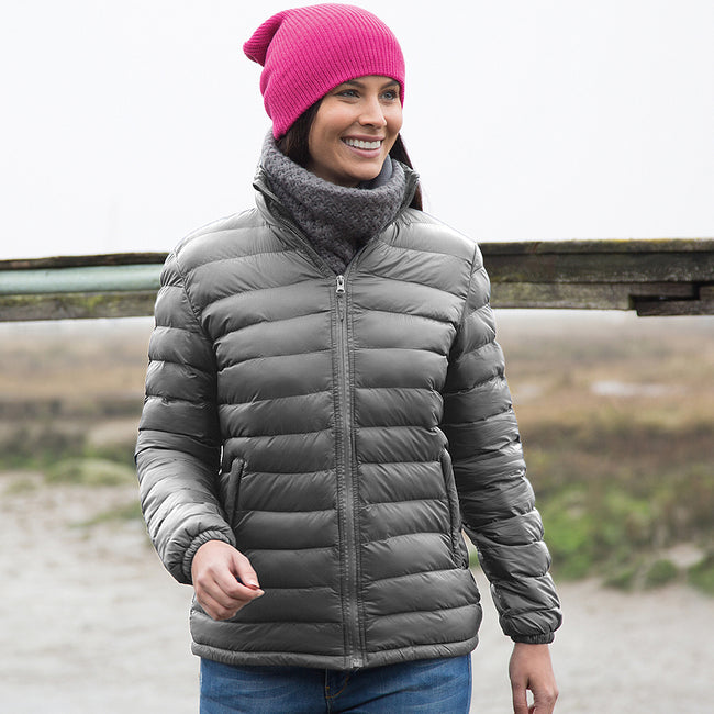 Frost Grey - Front - Result Ladies-Womens Ice Bird Padded Jacket (Water Repellent & Windproof)