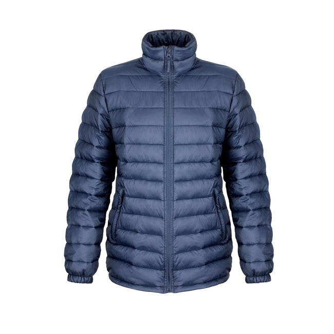 Navy Blue - Front - Result Ladies-Womens Ice Bird Padded Jacket (Water Repellent & Windproof)