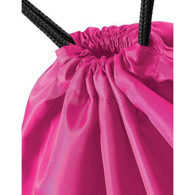 Fuchsia - Back - BagBase Budget Water Resistant Sports Gymsac Drawstring Bag (11 Litres)