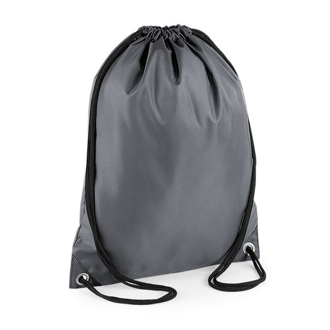 Graphite - Front - BagBase Budget Water Resistant Sports Gymsac Drawstring Bag (11 Litres)